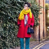 So where to start? My advice for thought-free morning dressing is coats. Lots of coats. After all, we'll still need them in spring too! I'm still building my collection (I still don't even have a pink one!) and go for jewel tones like bright orange, this lovely mustard number and leaf green that will go with everything. Secretly conceal your monochrome garbs under a gem of a coat and no one will know!
