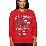 Just My Size Plus-Size Ugly Christmas Sweatshirt