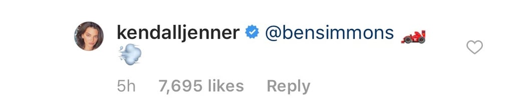 Kendall's Equally Cute Reply