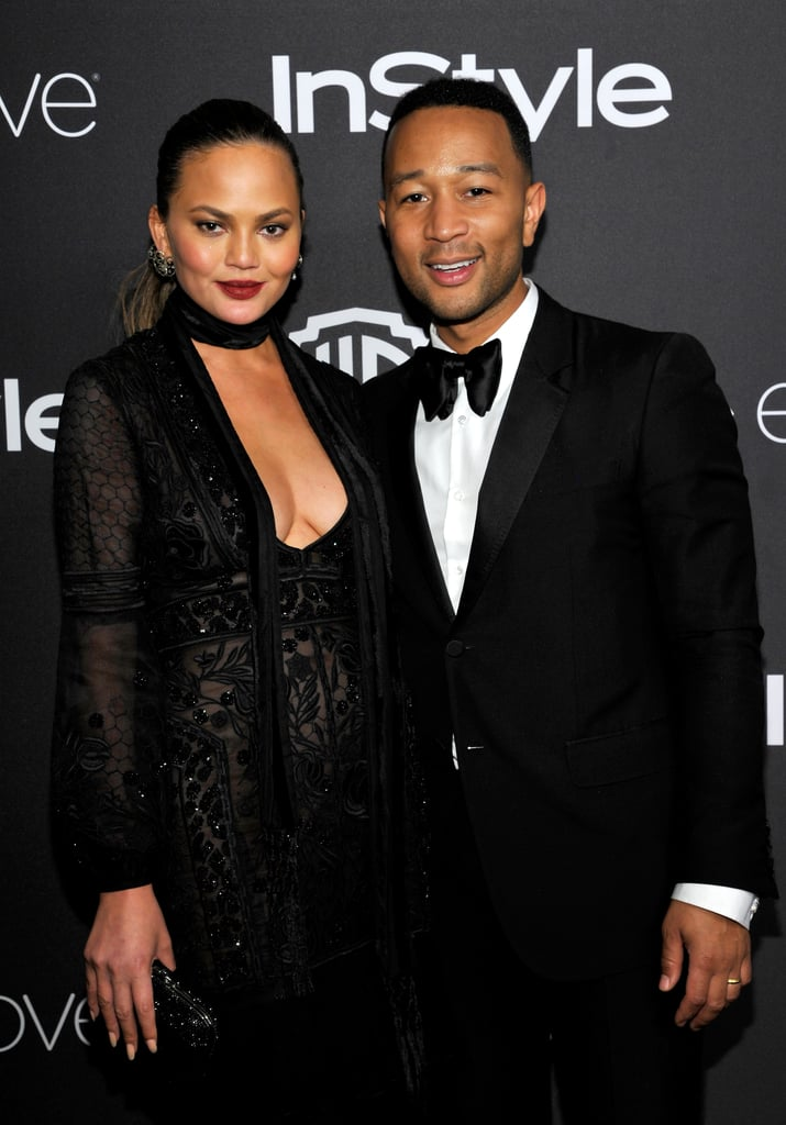 John Legend and Chrissy Teigen Switch Up Their Looks For a Golden Globes After-Party