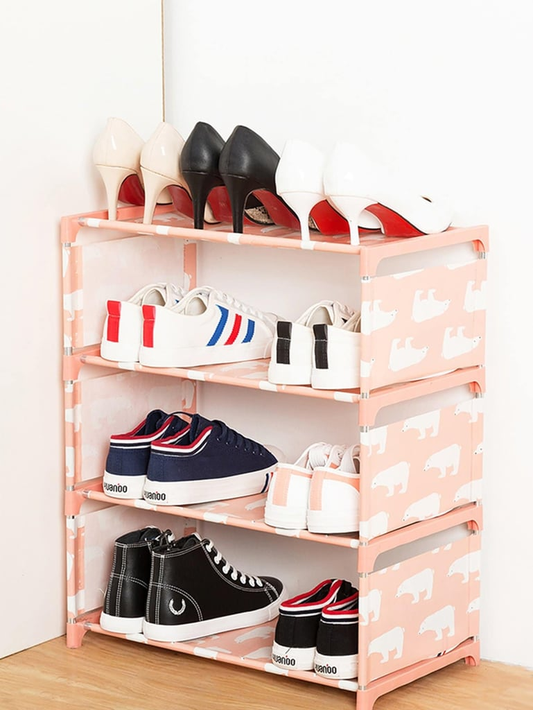 Bear Print Shoes Rack