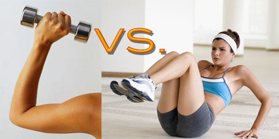 Which do you like LESS: Arm work or Ab work?