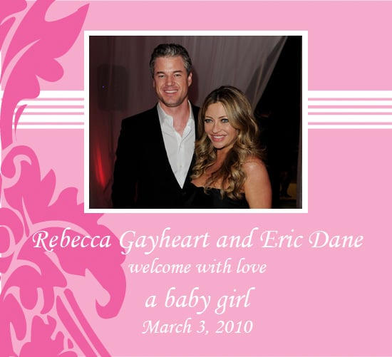 Rebecca Gayheart and Eric Dane Welcome Baby Girl