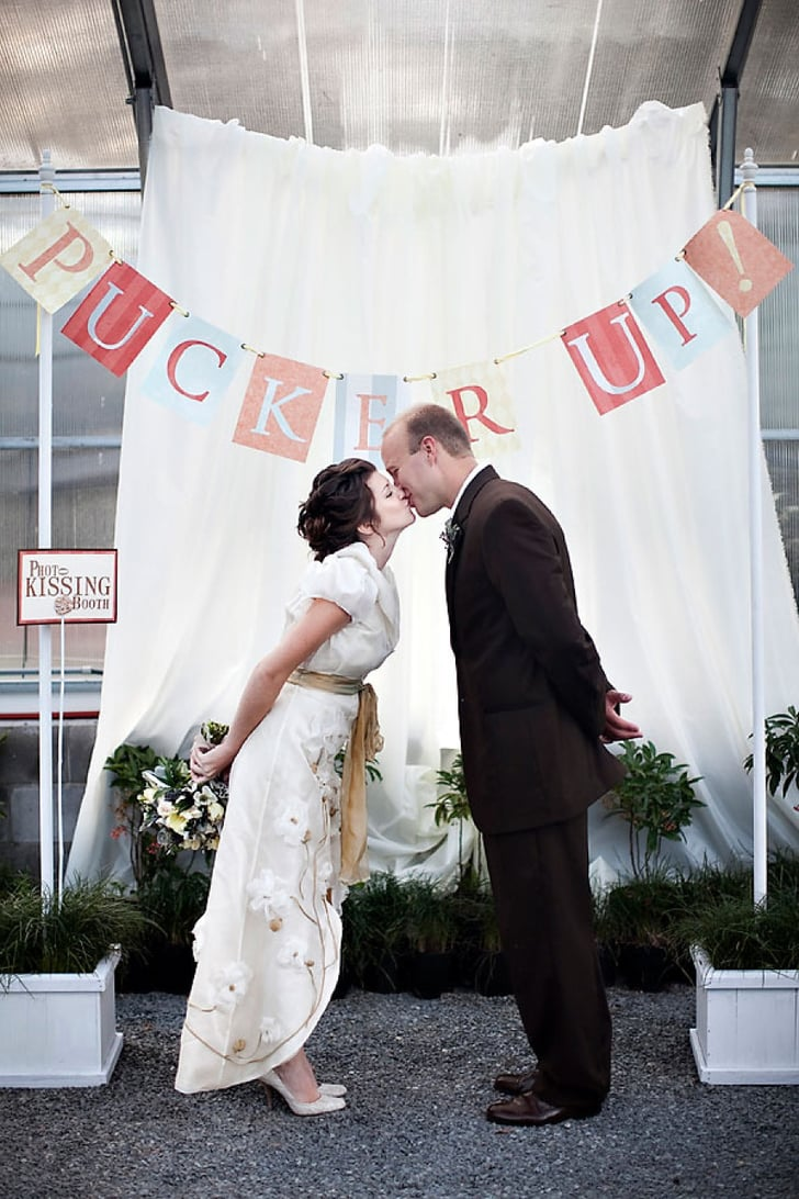 Pucker Up! Wedding Kissing Booth Inspiration