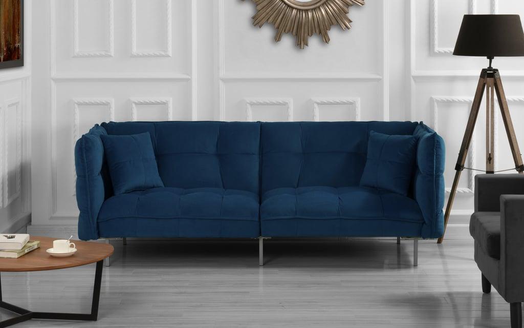 Modern Velvet Splitback Sleeper Sofa   Best Cheap Couches ...