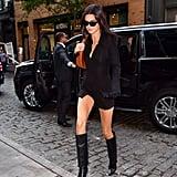 Kendall Jenner Leaving the Balenciaga Store in SoHo