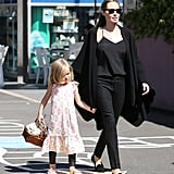 Angelina Jolie took her daughters to a craft session at the Entertainment Quarter in Sydney on Sept. 14.