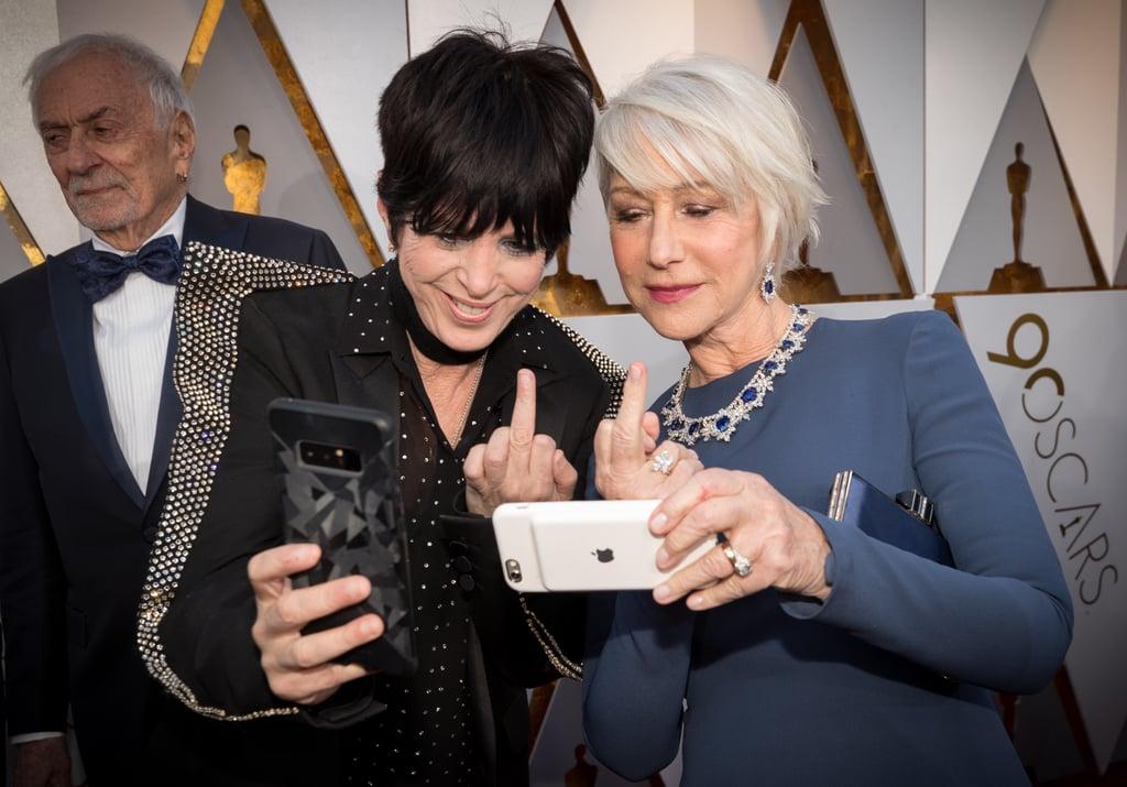 Pictured: Diane Warren and Helen Mirren