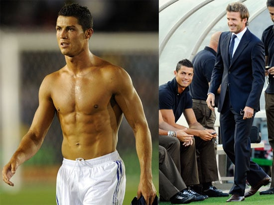 Shirtless Cristiano Ronaldo and David Beckham in LA as LA Galaxy Play Real Madrid