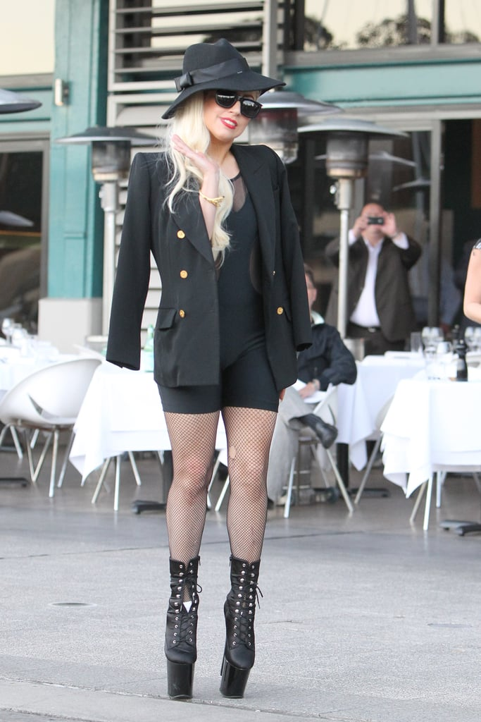 Lady Gaga landed in Sydney for her tour.