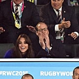 They couldn't hide their reactions while watching the Rugby World Cup in September 2015.