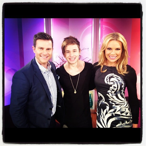 Reece Mastin stopped by the Mornings studio for a chat with David Campbell and Sonia Kruger. Source: Instagram User dcleo