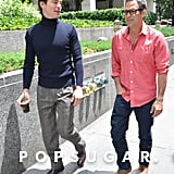 Mark Ruffalo and Matthew Bomer hung out together on the set of The Normal Heart in NYC on Wednesday.