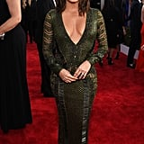 Eva Longoria Owns the SAG Awards Red Carpet in a Low-Cut, Low-Back Look