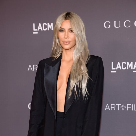 Kim Kardashian's Honey Blond Hair Colour