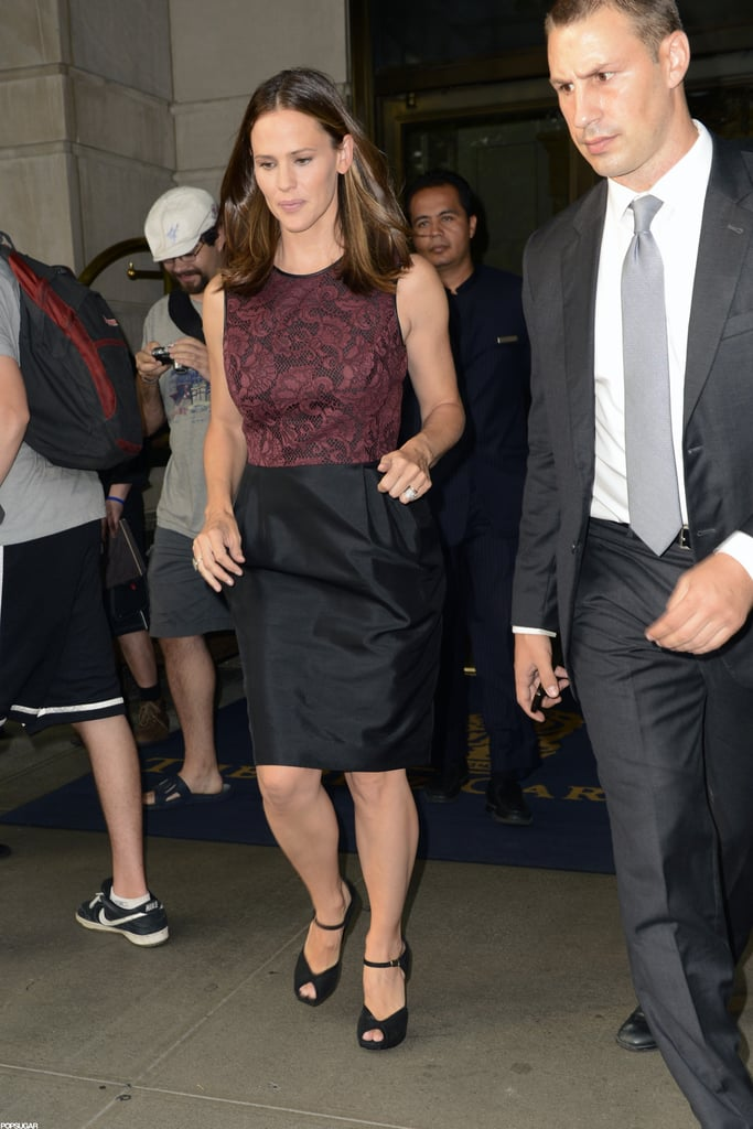 Jennifer Garner headed out of her hotel in NYC.