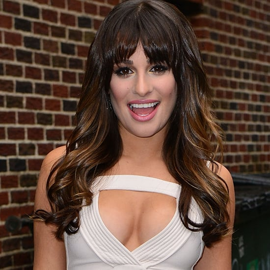 Lea Michele in Sexy White Dress at the Late Show