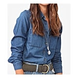 I can't believe that I only got on the chambray shirt train last year. I actually wear mine more as a light jacket for slightly cooler days over a plain tee. This dark mixed with faded blue denim is great for the new season — I think I'll also try tying it around my waist! — Jess, PopSugar editor Shirt, approx $20, Forever 21