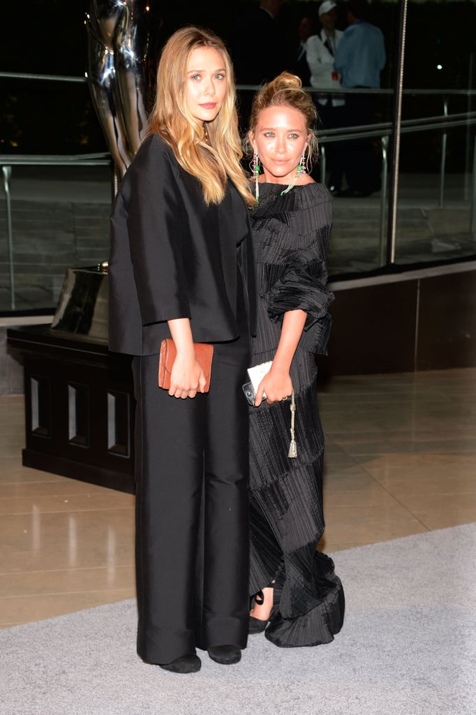 Elizabeth and Mary-Kate Olsen attended the CFDA Fashion Awards in NYC.