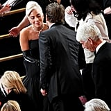 Pictured: Bradley Cooper, Lady Gaga, and Sam Elliott