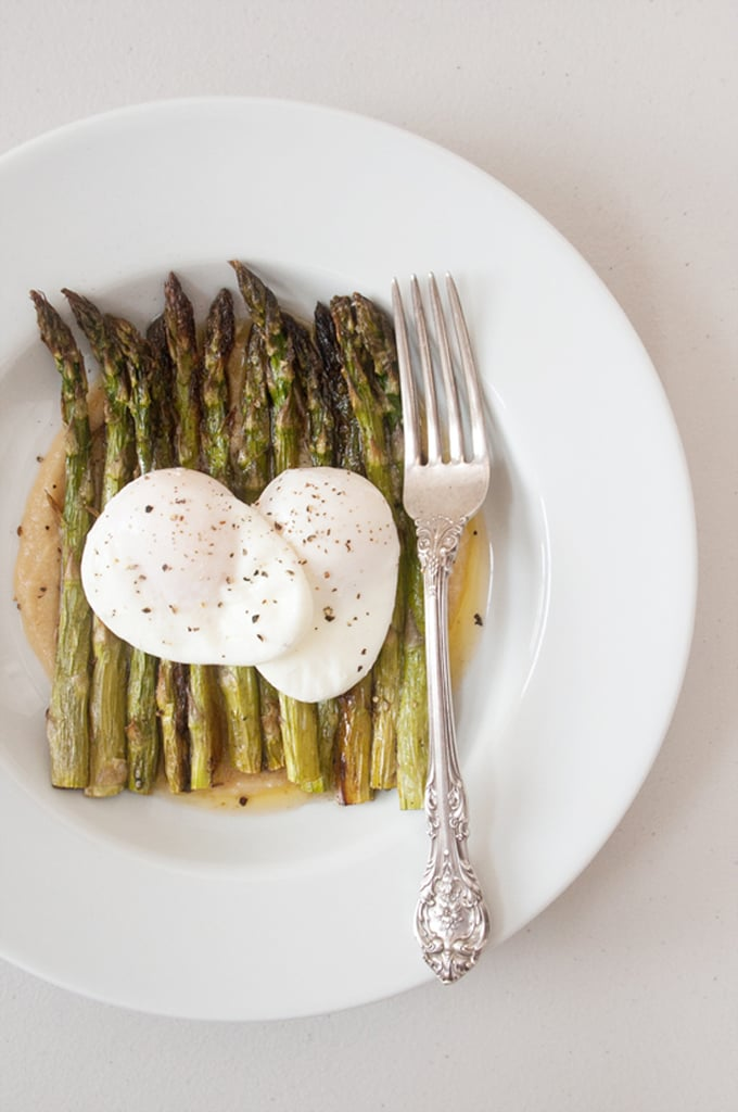 Asparagus With Miso Butter and Poached Eggs