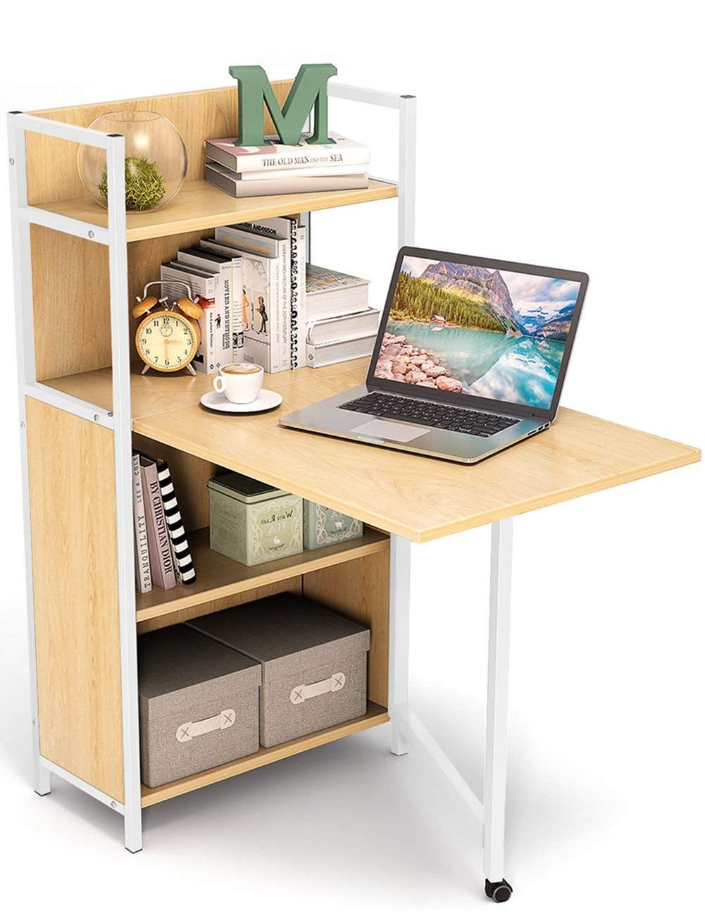 Tribesigns Small Folding Computer Desk Small Dorm These