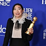 Awkwafina's French Manicure Golden Globes 2020
