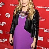 Pregnant Kristen Bell walked the red carpet at the premiere of The Lifeguard on Saturday at Sundance.
