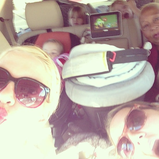 Tori Spelling continued her cross-country road trip with her kids from Toronto to LA. Source: Instagram user torianddean