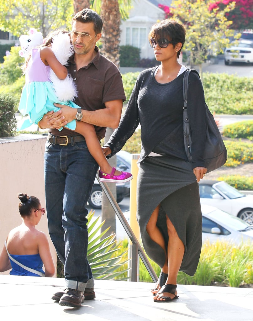 Halle Berry and Olivier Martinez celebrated their newly-married status with a movie date with Nahla in July 2013.