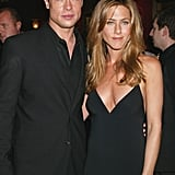 Brad and Jennifer were clad in black for the NYC premiere of Troy in May 2004.