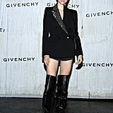 Hunter Schafer at the Givenchy Paris Fashion Week Show