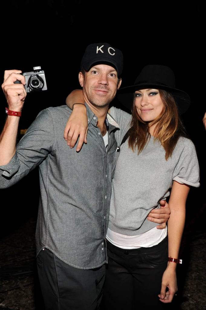 Olivia Wilde and Jason Sudeikis shared a snap-happy moment during the Global Citizen Festival in NYC in September 2013.