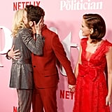 Judith Light, Ben Platt, and Zoey Deutch at The Politician Premiere