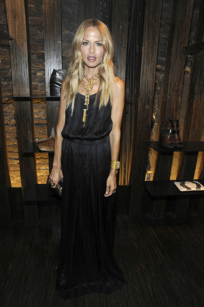 Rachel Zoe channeled her signature boho glam and bold accessories at Proenza's store opening.