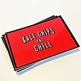 Kale Chips And Chill Netflix Sticker Laptop Decal, $2.64