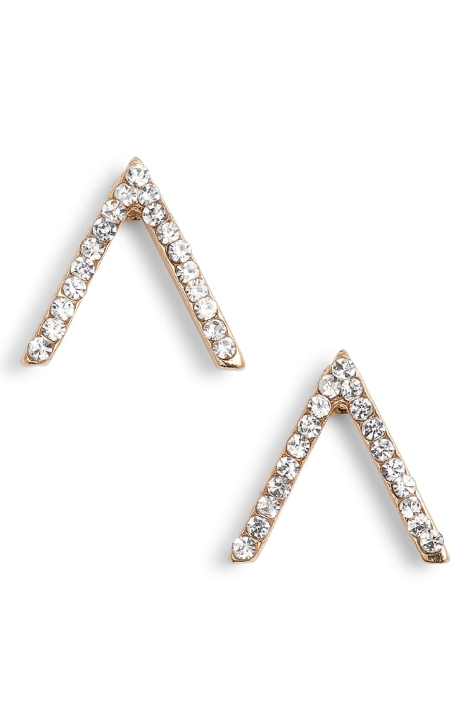 Uncommon James by Kristin Cavallari Crystal Chevron Stud Earrings