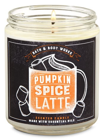 Bath & Body Works Pumpkin Spice Latte Single Wick Candle