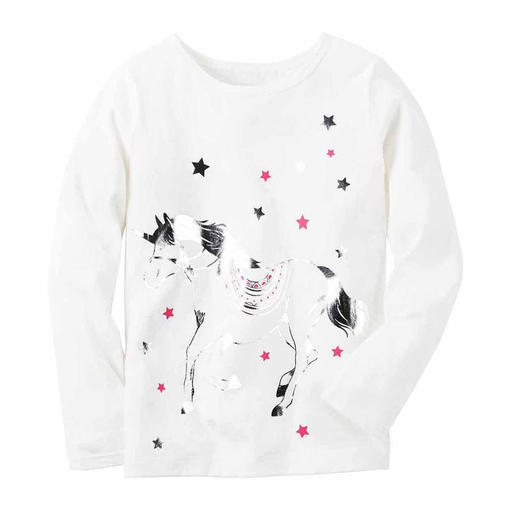 Ivory Unicorn Knit Tee