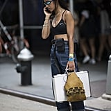 Wear a Simple Style With a Crop Top and High-Waisted Jeans