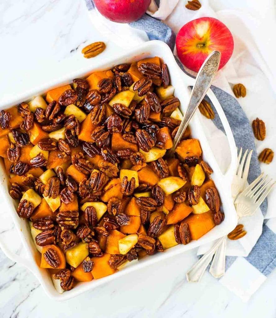 Glazed Sweet Potatoes With Honey Whisky Pecans