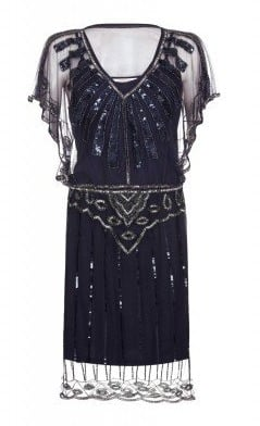 Gatsbylady Angel Sleeve Flapper Dress