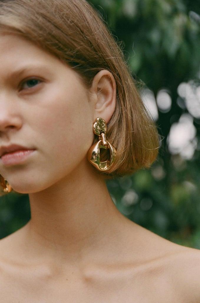 How to Wear: Bold, Gold Earrings