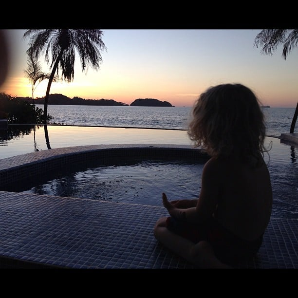 Pete Wentz shared a photo of his son, Bronx, enjoying the sunset. Source: Instagram user petewentz