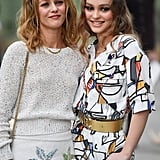 . . . and She Brought Her Mom Vanessa Paradis Along For the Ride