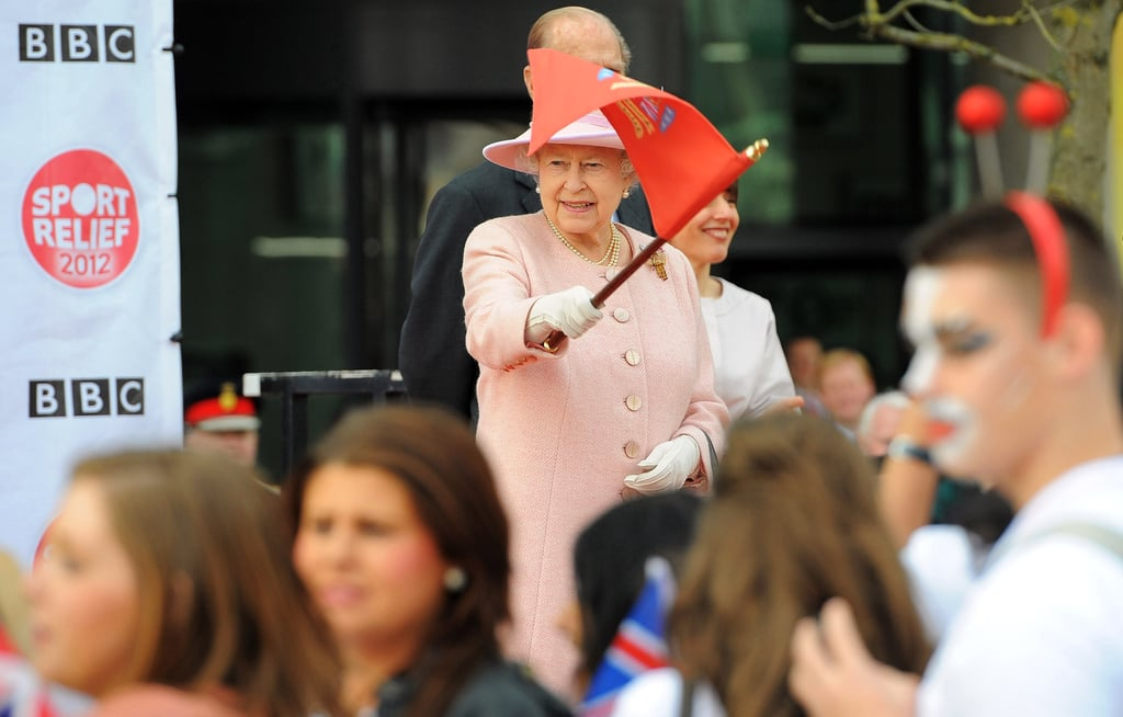 The queen got in the spirit in Manchester.