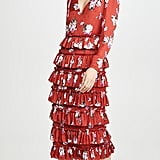 WAYF Darlene Long-Sleeve Tiered Dress