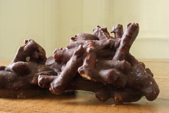 Salty Chocolate Pretzel Clusters