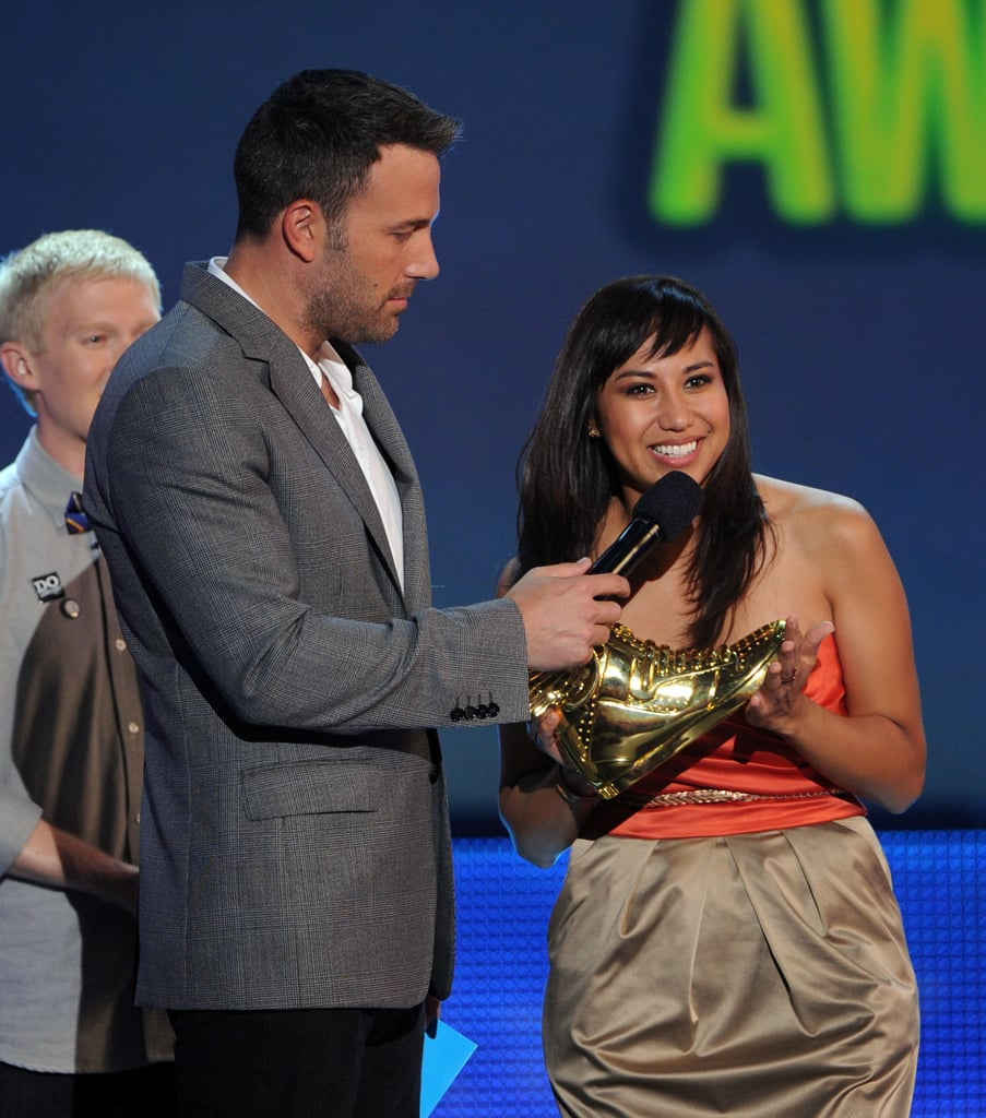 Ben Affleck held the mic on stage at the Do Something Awards.