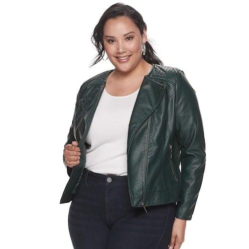 EVRI Plus Size Jean Jacket   Stylish Plus Size Clothing